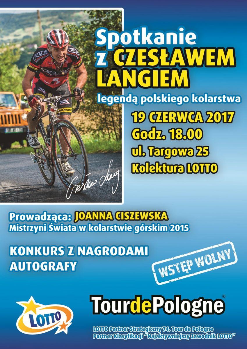 Plakat Czesław Lang LOTTO spotkanie 19.06.2017